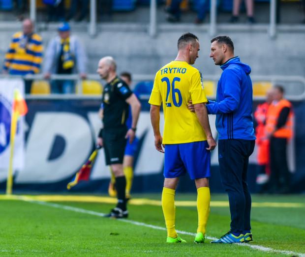 Grzegorz Niciński porażkę z Górnikiem Łęczna bierze na siebie, próbując w ten sposób chronić przed krytyką piłkarzy Arki Gdynia.