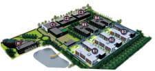 Projekt BCB Business Park oprócz biur przewiduje także hotel (oznaczony literą H).