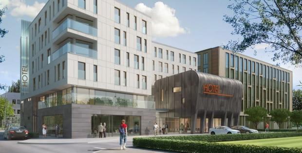 Hotel będzie ostatnim etapem kompleksu biurowego przy ul. Arkońskiej.
