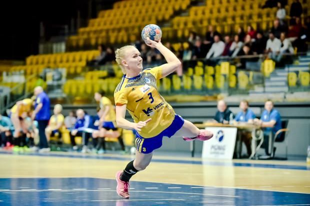 Katarzyna Janiszewska w środowym meczu trafiała jak na zawołanie. Skrzydłowa zapisała na swoim koncie 13 z 29 bramek Vistalu.