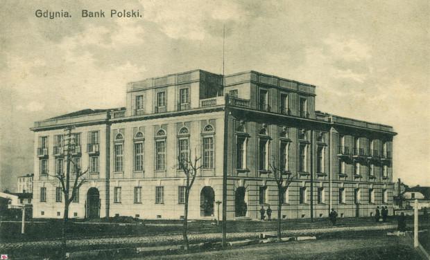 Gmach Banku Polskiego wkrótce po zakończeniu budowy.