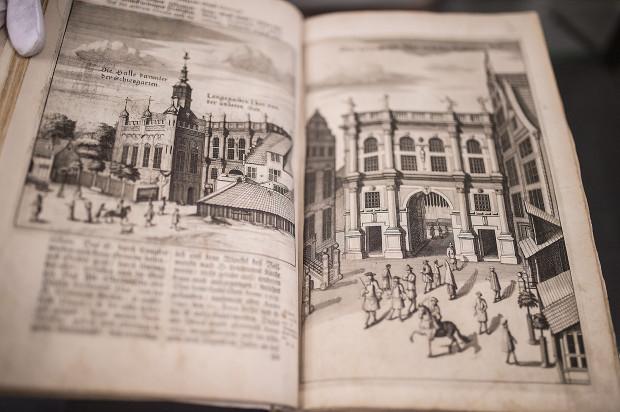 Fragment dzieła Otto Kloepella, architekta i badacza zabudowy Gdańska.