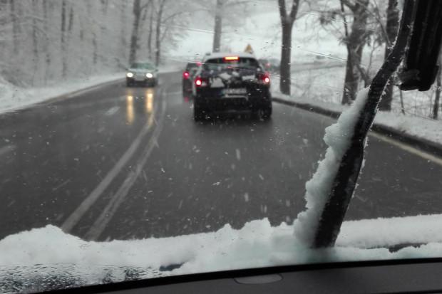 Trasa z Chwarzna na Karwiny, rano poruszaliśmy się tutaj bardzo wolno.