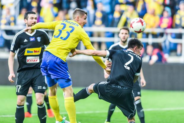 Damian Zbozień grał w Arce przez cały sezon jako prawy obrońca, a we wtorek zadebiutował na pozycji napastnika.