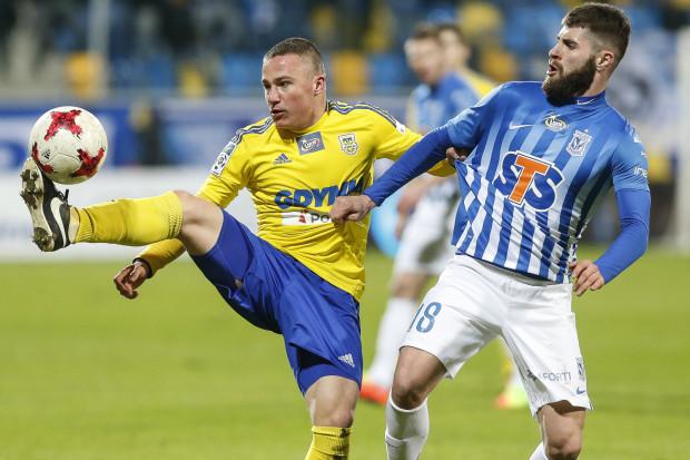 W ostatniej kolejce Michał Nalepa po raz pierwszym w tym sezonie zagrał w ekstraklasie pełną połowę spotkania.