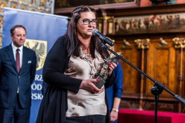 Monika Micał-Połczyńska, właścicielka firmy Flek Import-Expor, laureatka Gryfa Medialnego.