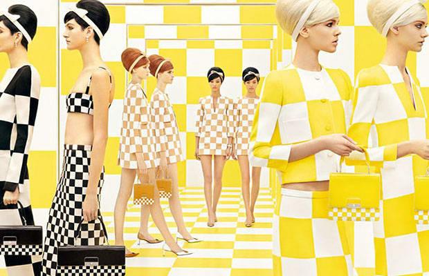 Kolekcja Louis Vuittona inspirowana pracami Daniela Burena, 2013 rok.