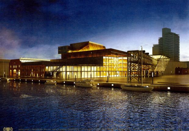 O nowej siedzibie Opery Bałtyckiej dyskutuje się od lat, ale konkretów nie ma żadnych. Jedyne jej projekty, jak ten powyżej, powstają w ramach prac studenckich.