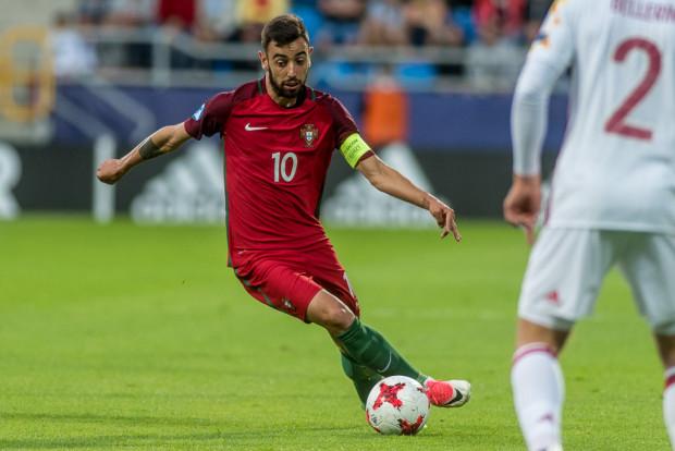 Bruno Fernandes, grający dla włoskiej drużyny UC Sampdoria, jest jednym z najlepszych piłkarz Portugalii podczas Euro U-21.