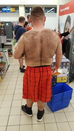 Mężczyzna spotkany w jednym ze sklepów na Przymorzu.