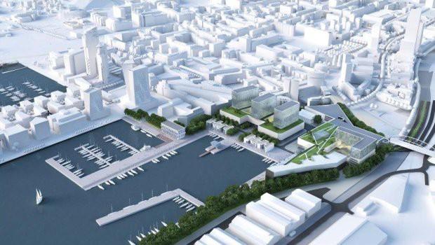 Wizja zabudowy terenów Nauty, dla których obecnie procedowany jest nowy plan miejscowy.