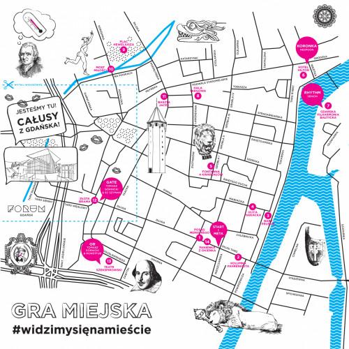 Pełnowymiarową wersję mapy dostaniemy w Instytucie Kultury Miejskiej.