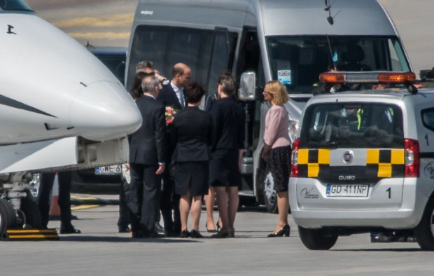 Przylot księcia Williama i księżnej Kate do Gdańska