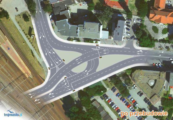 Tak będzie wyglądało skrzyżowanie przy dworcu po przebudowie.