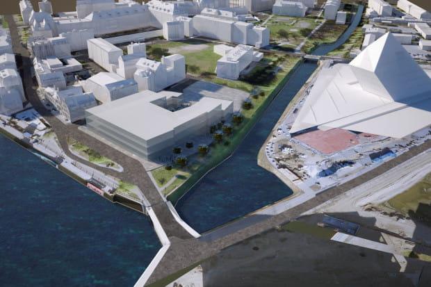 Hipotetyczny kształt przyszłego Muzeum Gdańska - to wyłącznie powierzchowna wizja bryły nowego muzeum.