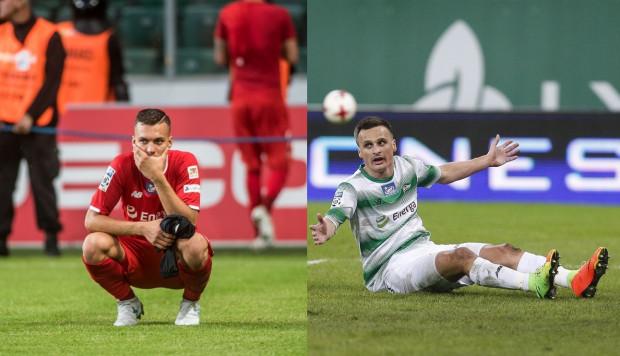 Zdrowi Lukas Haraslin (z lewej) i Sławomir Peszko (z prawej) byli pewniakami na skrzydłach Lechii w pierwszym składzie. W tym sezonie trener Piotr Nowak ani razu nie mógł jednak skorzystać z obu tych piłkarzy w jednym meczu. Niestety, wygląda na to, że przez dłuższy czas nie zagra ani jeden, ani drugi.