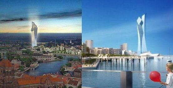 Prawie identyczny budynek, który dwa lata temu pokazywał w Gdańsku, Daniel Libeskind zaproponował w Belgradzie.