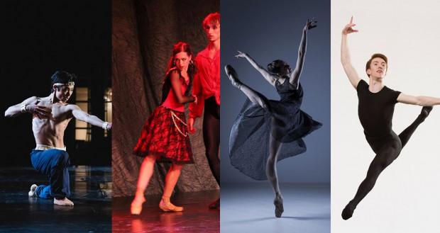 Nowe nabytki Baletu Opery Bałtyckiej, od lewej: Gento Yoshimoto (solista), Maria Kielan (solista), Emese Bíró i Ruaidhri Maguire (oboje członkowie zespołu Baletu).