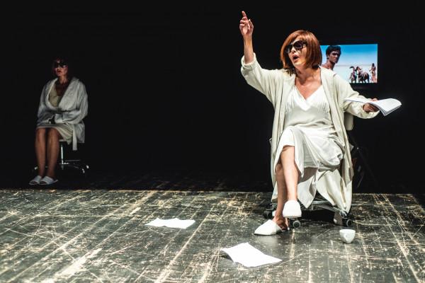 """Z kolei pokaz """"Zarah. Od tego świat się nie kończy"""" w reż. Ewy Wyskoczyl okazał się gotową, 10-minutową sceną, przybliżającą divę i twarz III Rzeszy Zarah Leander ze spektaklu, który wystawi Teatr Nowy w Poznaniu."""