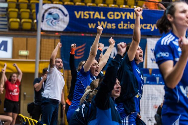 Tak piłkarki ręczne Vistalu cieszyły się po ligowej inauguracji. Czy podobne nastroje będą po meczach Ligi Mistrzyń, które także będą odbywać się w Gdynia Arena?