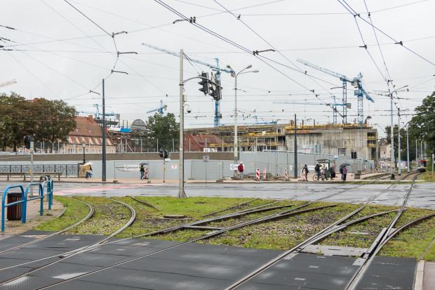 Widok na Forum Gdańsk od strony Huciska.