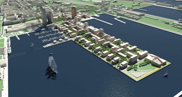 Zwarta i uporządkowana zabudowa - tak ma wyglądać nowe, nadmorskie centrum Gdyni. Dziś to poprzemysłowe tereny Molo Rybackiego, należące do Dalmoru, w przyszłości - nowa dzielnica miasta.