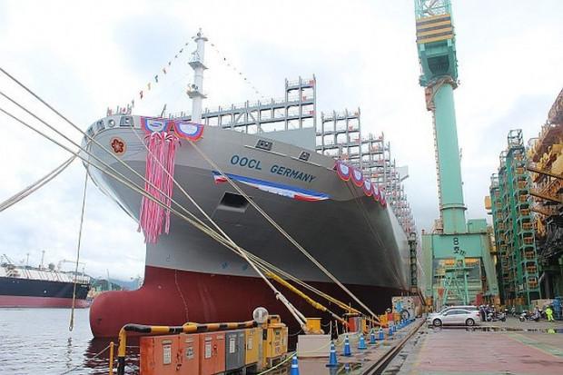 """""""OOCL Germany"""" został ochrzczony w sierpniu 2017 roku, w stoczni Samsung Heavy Industries w Korei Południowej."""