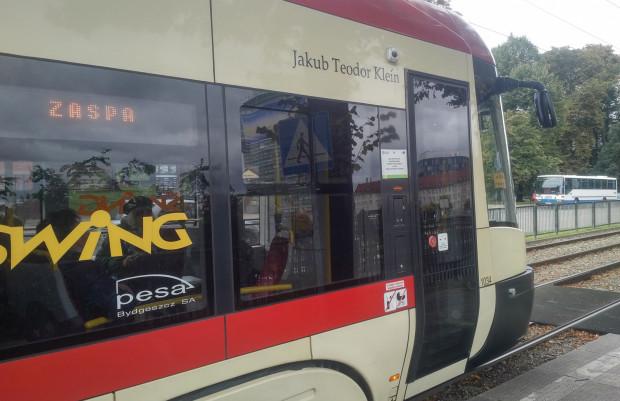 Jakub Teodor Klein jest patronem tramwaju Pesa Swing o numerze bocznym 1034