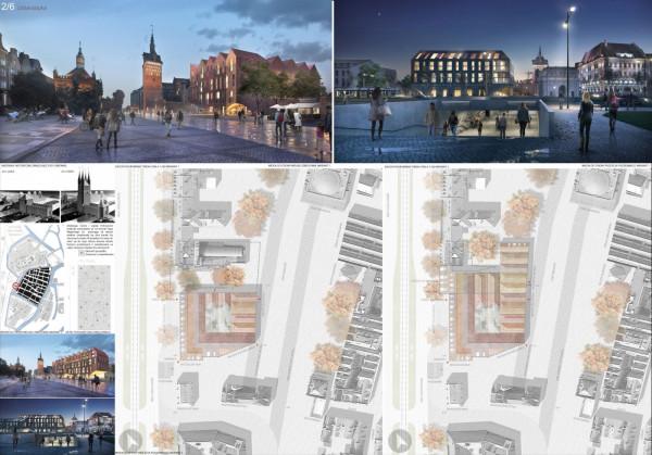Projekt zabudowy terenu po budynku LOT-u autorstwa Eovastudio.