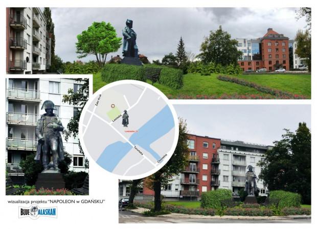 Wizualizacja pomnika Napoleona przy ul. Lastadia.