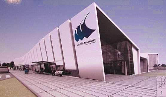 Bryła terminalu ma nawiązywać do morza i wiatru.
