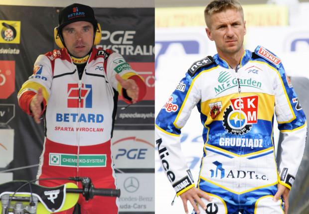Tomasz Jędrzejak (z lewej) lub Rafał Okoniewski (z prawej) byliby czymś więcej niż uzupełnieniem składu Wybrzeża. Czy któregoś z zawodników przyzwyczajonych do realiów finansowych PGE Ekstraligi uda się namówić na przenosiny do Gdańska?