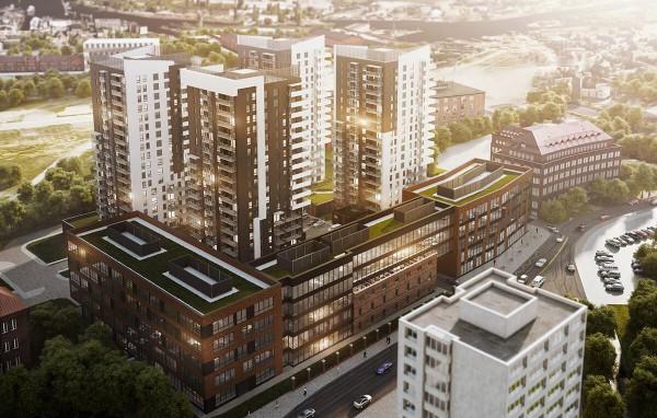Budynki mieszkaniowe Bastionu Wałowa w trzecim etapie inwestycji mają być zasłonięte zabudową biurową. LC Corp nie przedstawił jeszcze ostatecznej wizualizacji budynków.