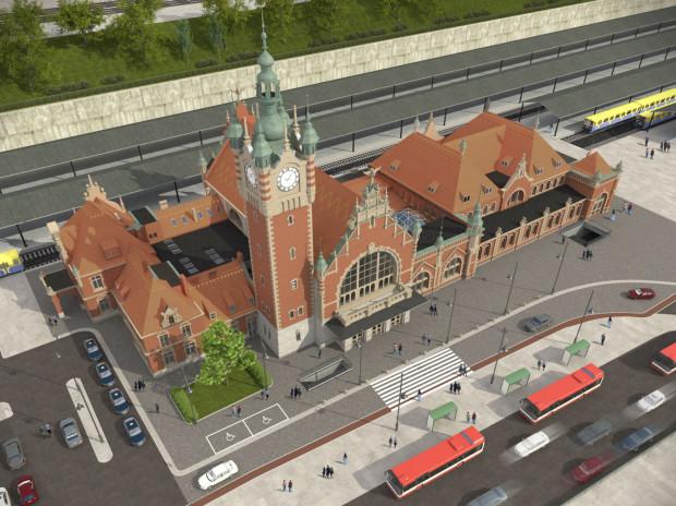 Budynek będzie miał odnowioną elewację. Zmieni się też kształt dachu w prawym skrzydle obiektu.