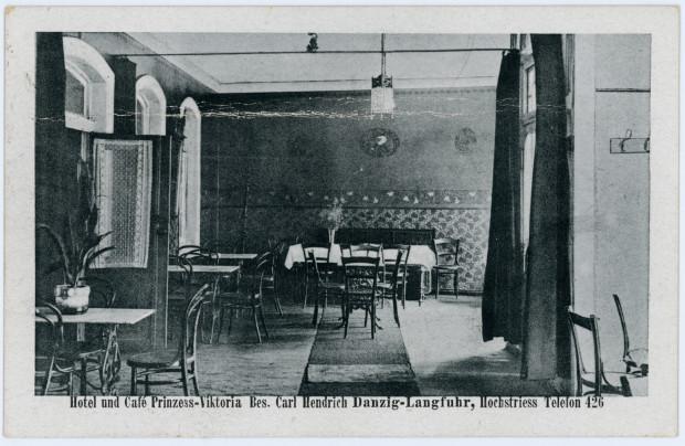 Wnętrza restauracji Prinzess Viktoria, między ok. 1920-1923 (zbiory Krzysztofa Gryndera)