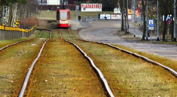 Tak dziś wygląda torowisko tramwajowe na Stogach. Remont jest potrzebny i dobrze, że w końcu do niego dojdzie.