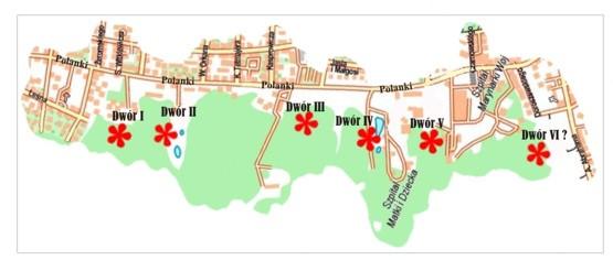 Opracowanie własne na podstawie planu miasta wyd. Eko-Kapio