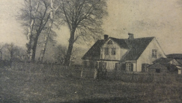 Prawdopodobnie jedyne zachowane zdjęcie Dworu Myśliwego, czyli Jägerhofu, wykonane w 1928 r.
