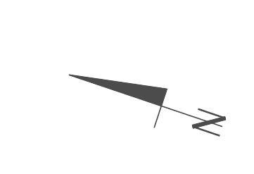 Ta strzałka umieszczona obok rzutu pokazuje północ. Na tej podstawie łatwo określić gdzie są inne strony świata i z której strony będzie najwięcej słońca.