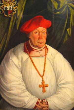 Maurycy Ferber jako biskup warmiński. Kopia zaginionego obrazu z 1535 r., namalowana przez Antona Möllera ok. 1590 r.