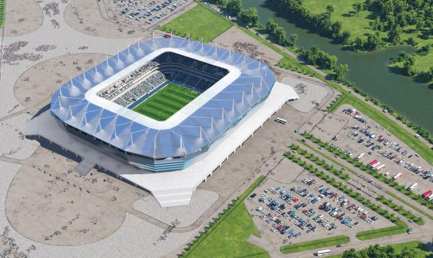 Arena Baltica - stadion, na którym będą rozgrywane mistrzostwa świata w piłce nożnej.