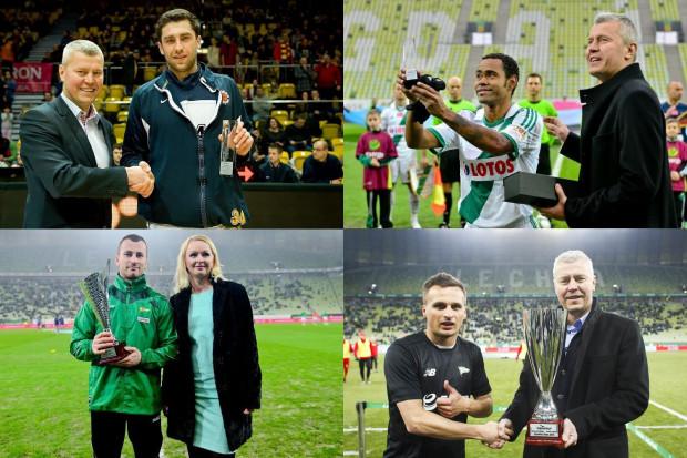 Triumfatorzy czterech z pięciu dotychczasowych edycji: od lewej od góry Adam Hrycaniuk - 2013 rok, Deleu - 2014, Piotr Wiśniewski - 2015 i Sławomir Peszko - 2017.