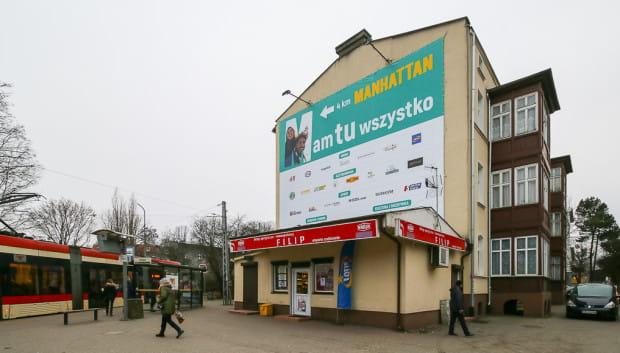 Niewielki sklep widoczny na zdjęciu to jedyny fragment terenu, który nie jest własnością miasta.