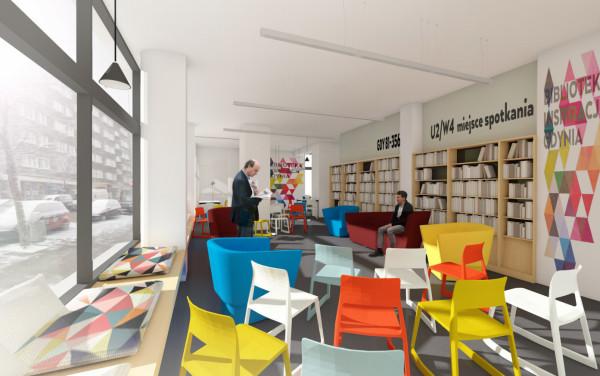 Nowa mediateka w Gdyni. Projekt Trop Design Studio, Maciej Walczyna. Architekt ma na koncie projekty bibliotek m.in. w Warszawie.