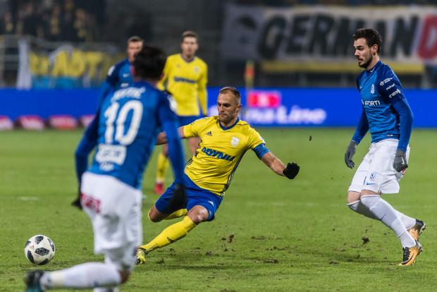 Antoni Łukasiewicz walnie przyczynił się do tego, że Arka Gdynia nie straciła gola na inaugurację wiosny w meczu z Lechem Poznań.
