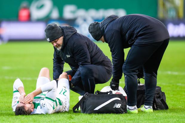 """Lechia kończyła w """"10"""", gdyż limit zmian był wykorzystany, gdy kontuzji kolana doznał Rafał Wolski."""
