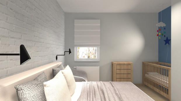Druga koncepcja opiera się na delikatniejszej kolorystyce, z przewagą bieli i drewna.
