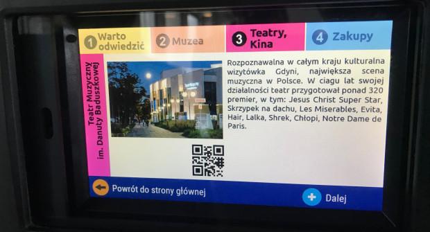 Na ekranie będą także wyświetlane informacje o mieście.
