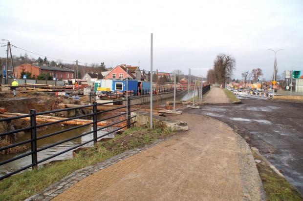 Rozebrany most nad kanałem Raduni - w ciągu ul. Starogardzkiej.