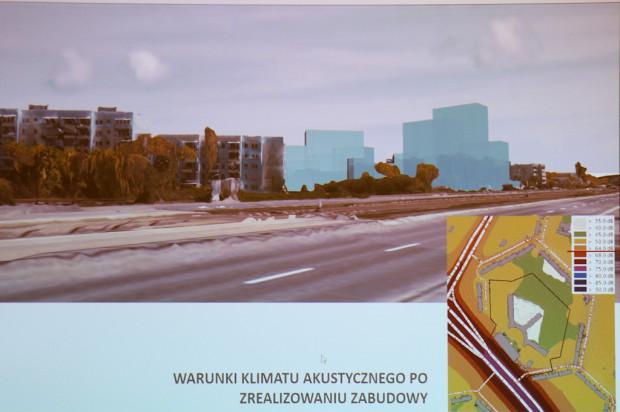 Wizualizacja kubaturowa możliwej zabudowy wraz z analizą zmian klimatu akustycznego.